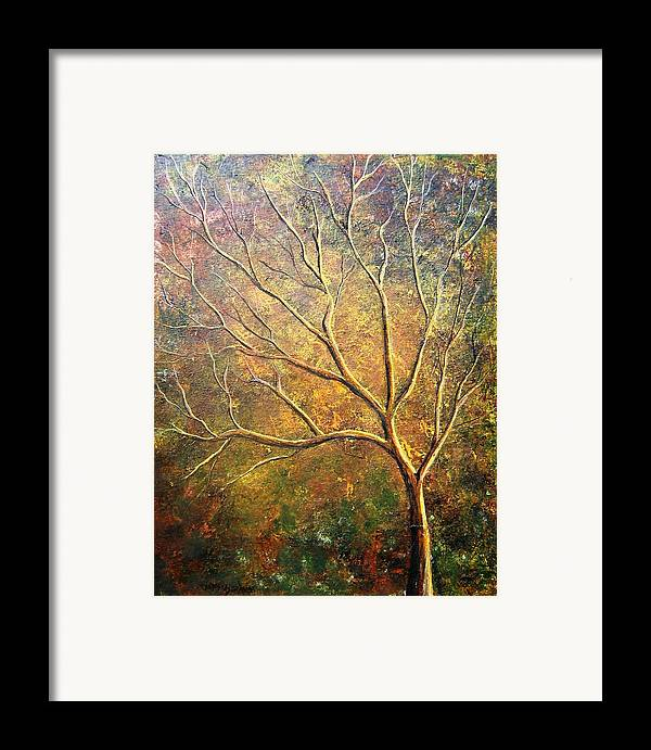 Framed Print featuring the painting Spirit Tree 5 by Tami Booher