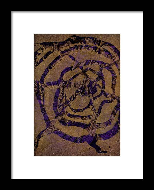 Original Framed Print featuring the painting Spirit Web by Rick Silas