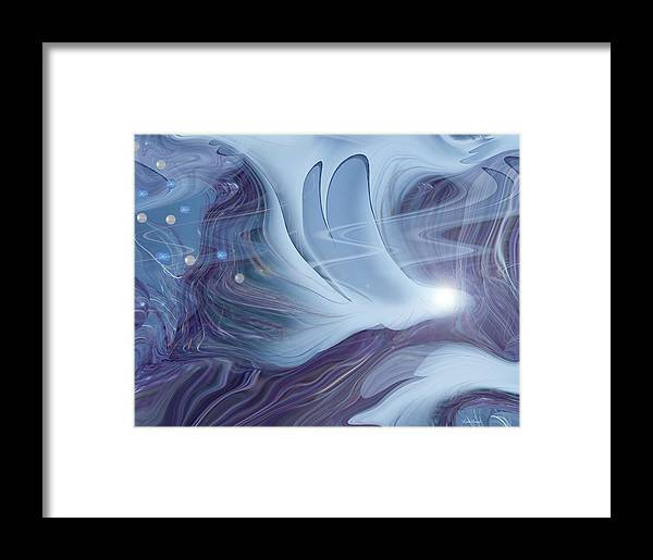 Abstract Framed Print featuring the digital art Spirit World by Linda Sannuti