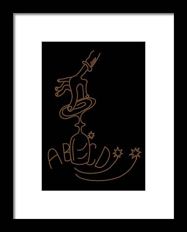 Alphabet Framed Print featuring the digital art Spiritist Seance by Lenka Rottova