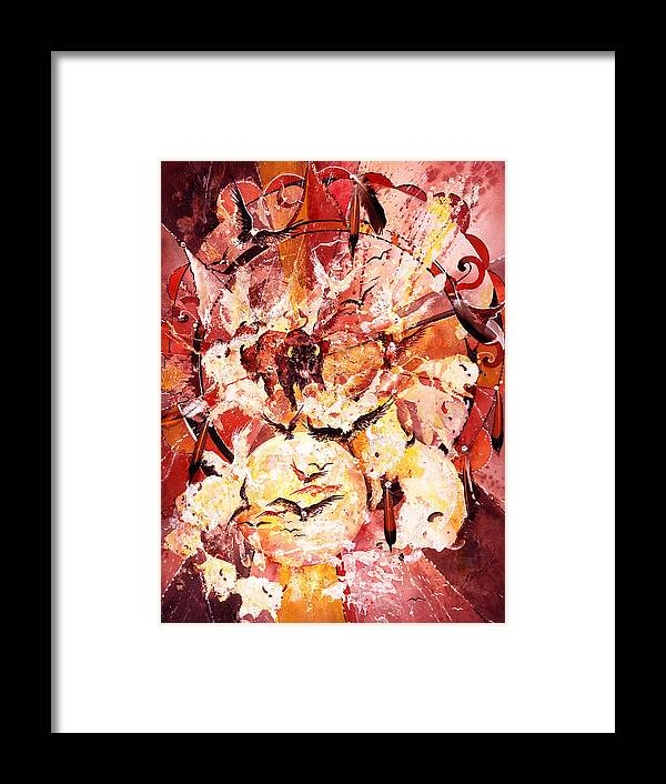 Spiritual Framed Print featuring the painting Spirits Freed by Connie Williams