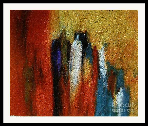 Abstract Framed Print featuring the painting Spirits Gathered by Don Phillips
