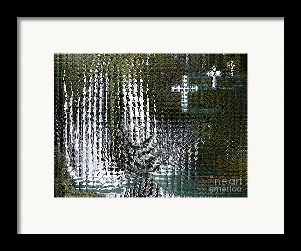 Spiritual Framed Print featuring the digital art Spirits Of The Cross by Stephanie H Johnson