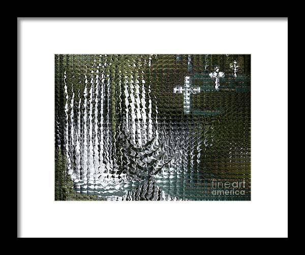 Spiritual Framed Print featuring the digital art Spirits Of The Cross by Stephanie H Johnson