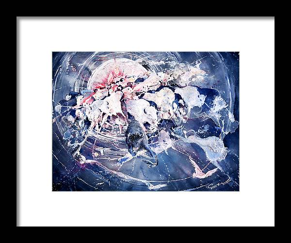 Spiritual Framed Print featuring the painting Spirits Released by Connie Williams