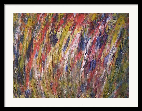 Abstract Framed Print featuring the painting Spirits Rising by Don Phillips