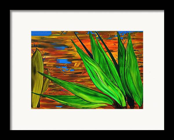 Scientology Framed Print featuring the painting Spiritual Beingness Of Plants And Theta by Gregory Allen Page