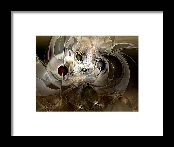 Abstract Framed Print featuring the digital art Spiritual Chops by Casey Kotas