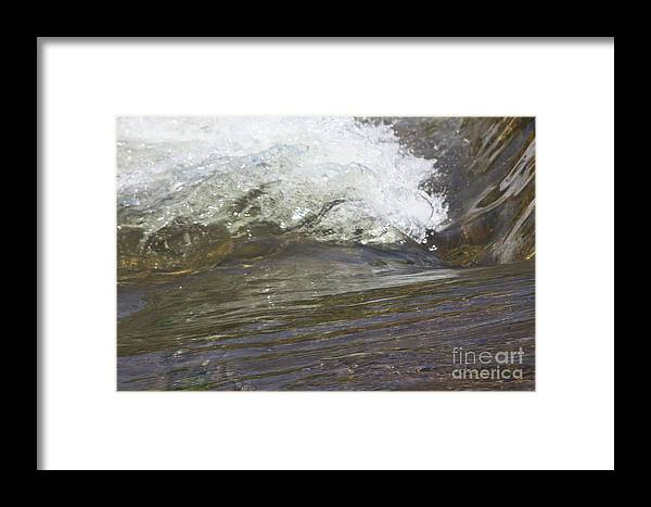 Water Framed Print featuring the photograph Splabstract by Gordon J Weber