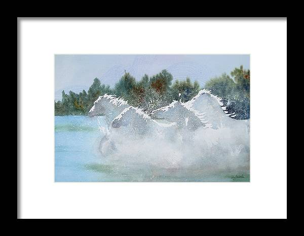 Horse Framed Print featuring the painting Splash 1 by Ally Benbrook