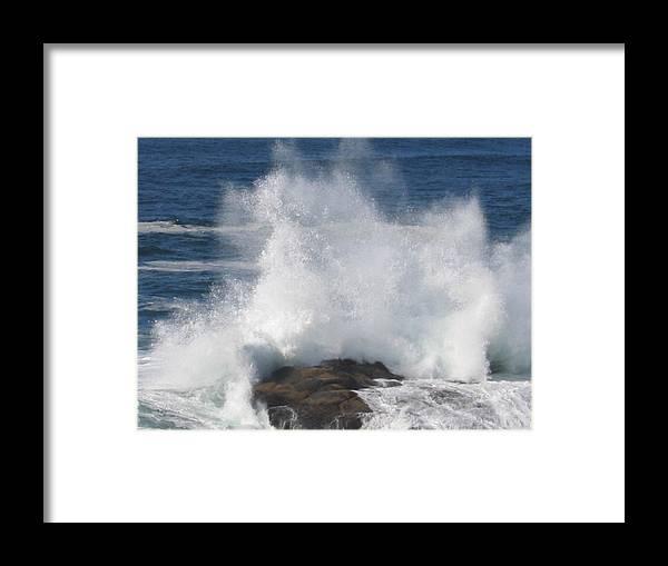 Framed Print featuring the digital art Splash by Barb Morton