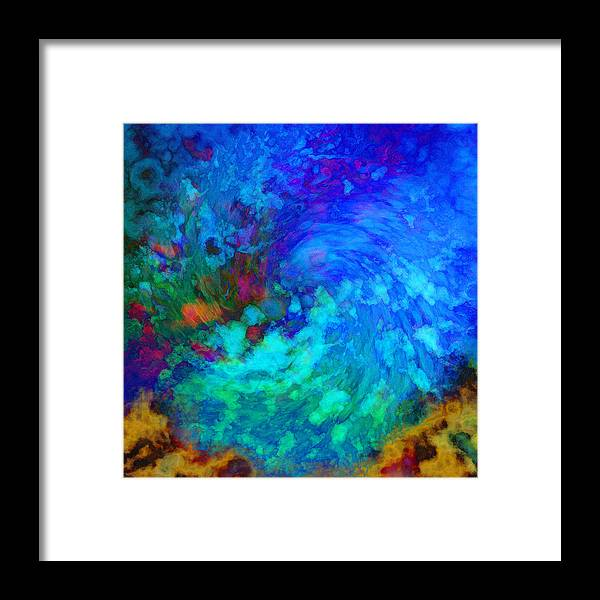Water Framed Print featuring the digital art Splash by Gae Helton
