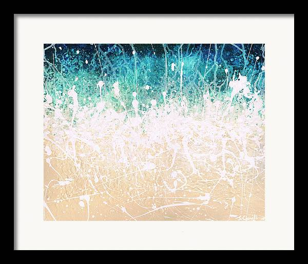 Abstract Framed Print featuring the painting Splash by Jaison Cianelli