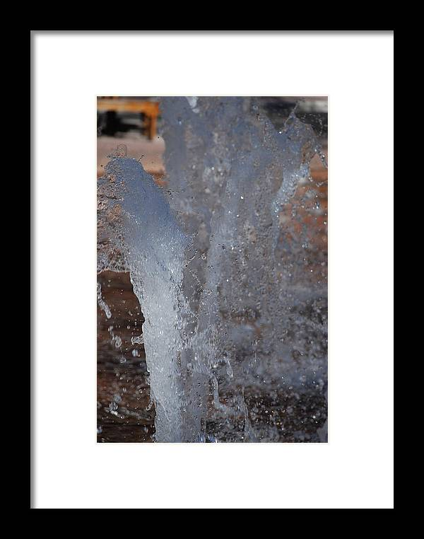Water Framed Print featuring the photograph Splash by Rob Hans