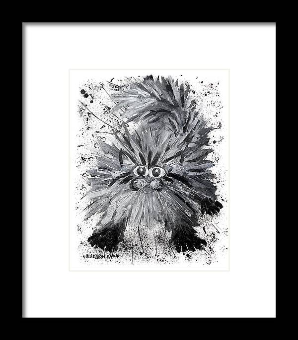 Cat Framed Print featuring the painting Splat Cat by Baron Dixon