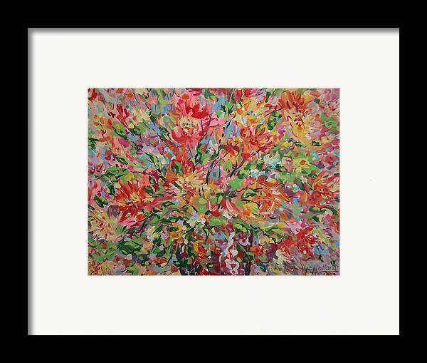 Painting Framed Print featuring the painting Splendor. by Leonard Holland