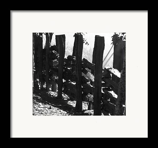Landscape Framed Print featuring the photograph Split Rail Fence by Donna Thomas