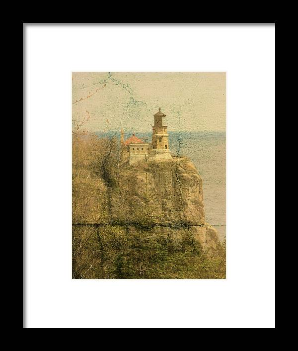 Tingy Framed Print featuring the photograph Split Rock by Tingy Wende