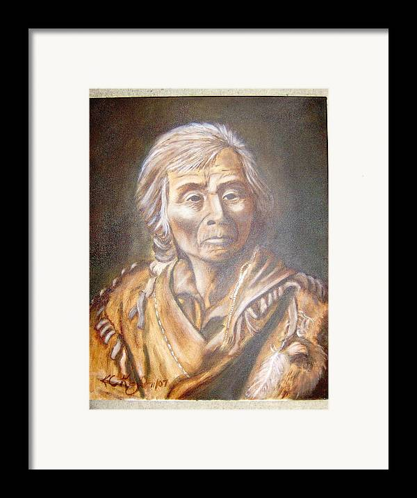 People Framed Print featuring the painting Spoken Man by KC Knight