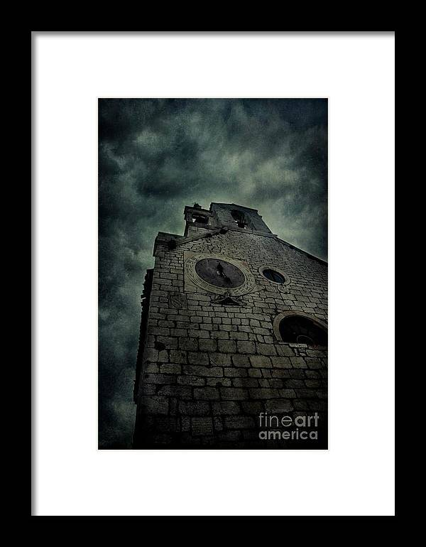 Alone Framed Print featuring the photograph Spooky Medieval Church by Mythja Photography
