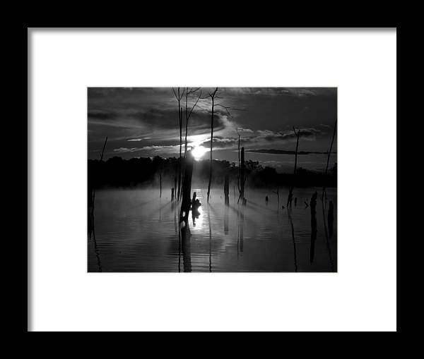 Gloom Framed Print featuring the photograph Spooky Sunrise by William Caine
