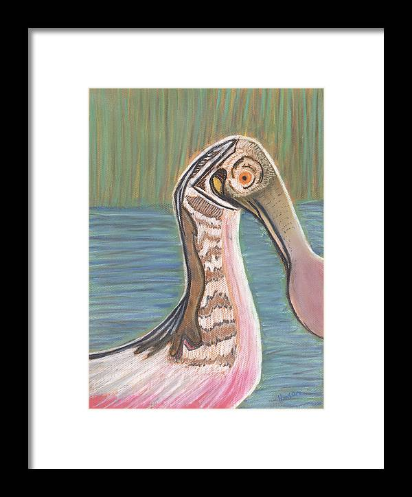 Spoonbill Framed Print featuring the painting Spoonbill by Stu Hanson
