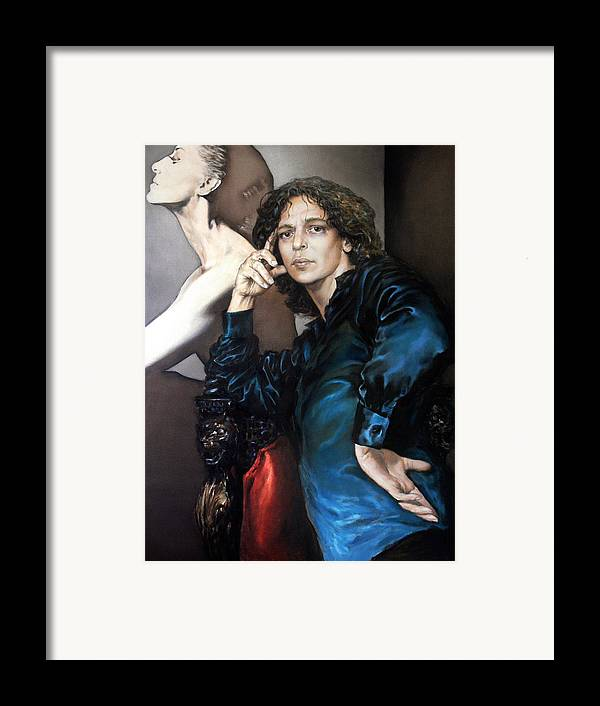 Eye Framed Print featuring the painting S.portrait by Valeriy Mavlo