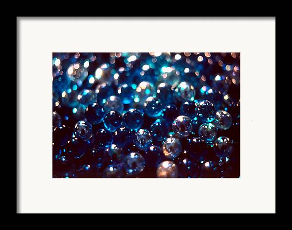 Abstract Framed Print featuring the photograph Spotlighted Marble Abstract 2 by Steve Ohlsen