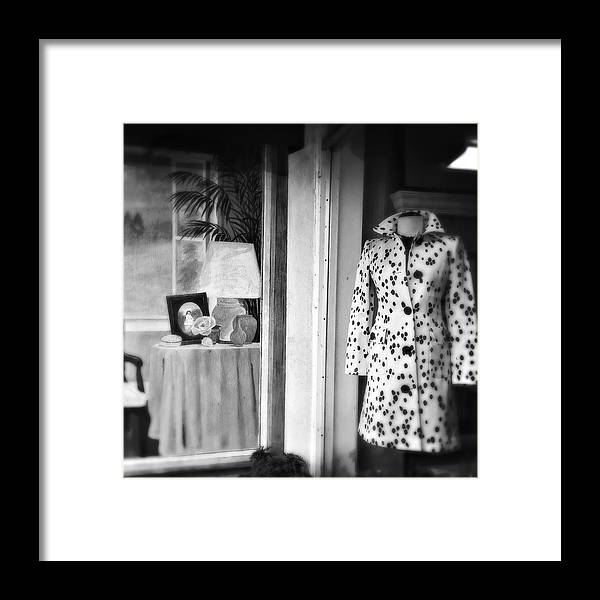 Window Framed Print featuring the photograph Spotted Coat by Joanne Riske