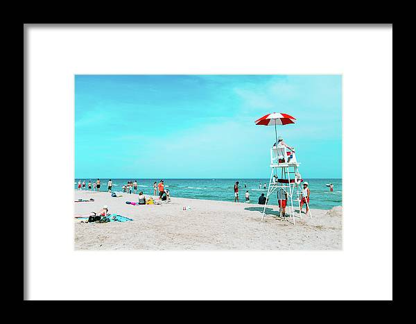 Lifeguard Framed Print featuring the photograph Spotted by Vincent Buckley