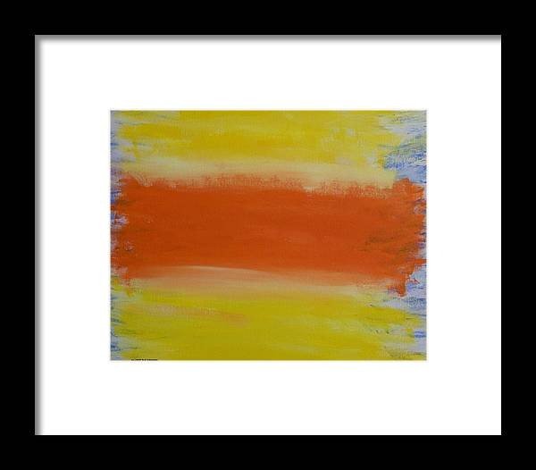 Abstract Framed Print featuring the painting Spp3 Some Days Are Better Than Others by Rod Schneider