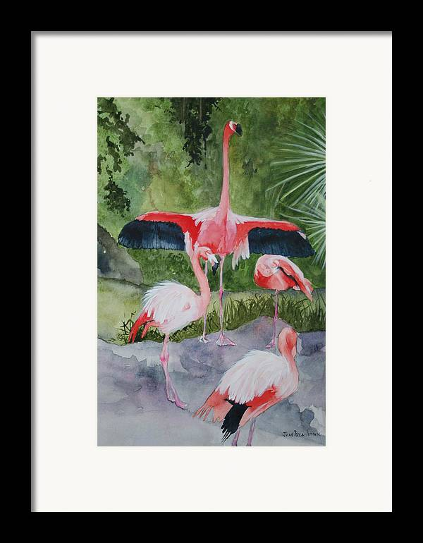 Wings Framed Print featuring the painting Spreading My Wings by Jean Blackmer