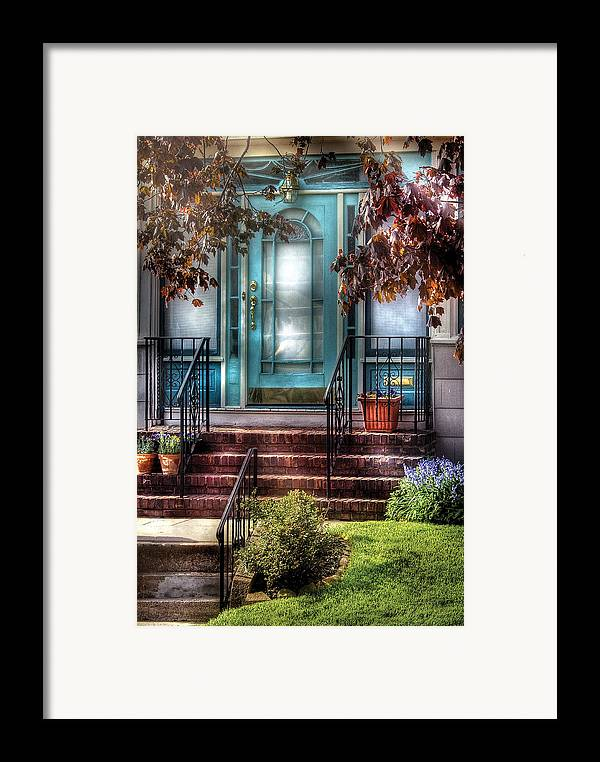 Savad Framed Print featuring the photograph Spring - Door - Apartment by Mike Savad