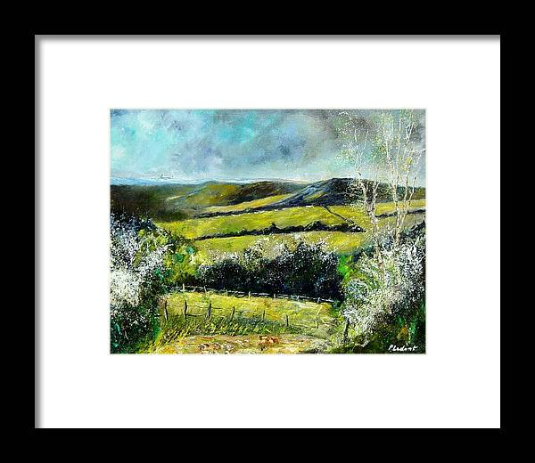 Landscape Framed Print featuring the print Spring 79 by Pol Ledent