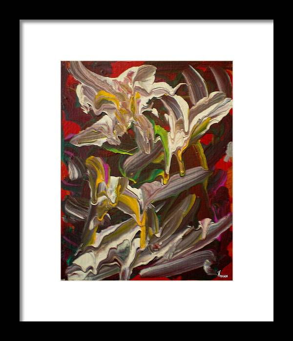 Spring Framed Print featuring the painting Spring Abstract -026 by Will Logan