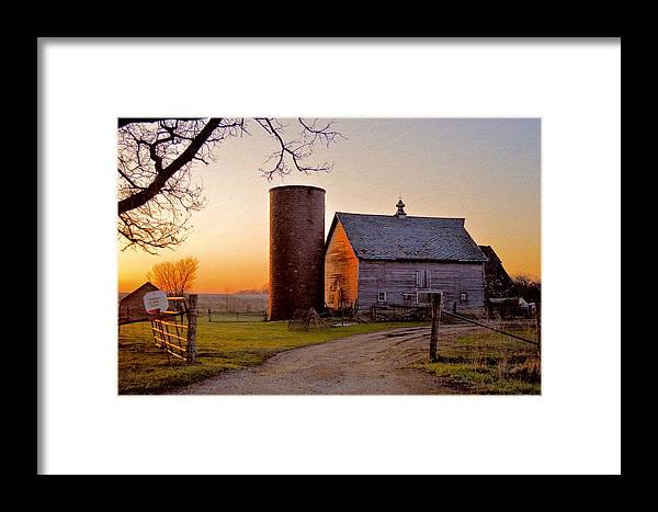 Rustic Framed Print featuring the photograph Spring At Birch Barn by Bonfire Photography