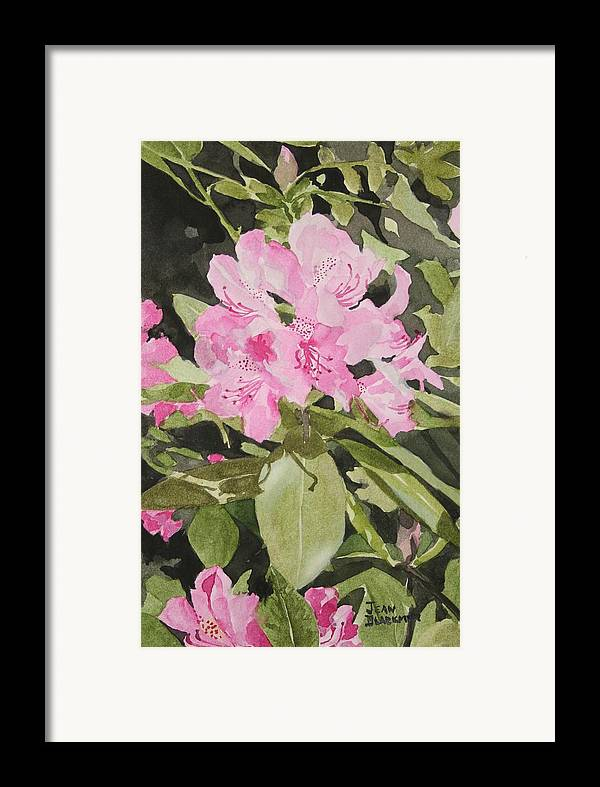 Flowers Framed Print featuring the painting Spring At The Cabin by Jean Blackmer