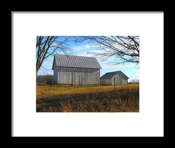 Barn Framed Print featuring the photograph Spring Barns by Michael L Kimble