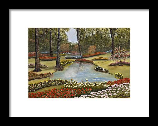 Flowers Framed Print featuring the painting Spring Blooms by Darren Yarborough