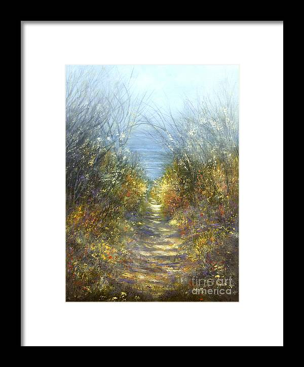 Landscape Framed Print featuring the painting Spring Blosssom by Valerie Travers
