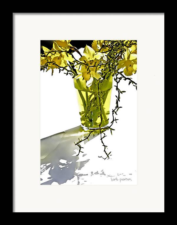 Spring Framed Print featuring the painting Spring Bouquet by Barb Pearson