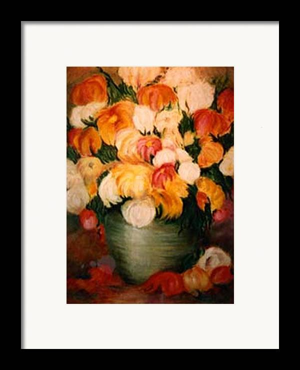 Flowers Framed Print featuring the painting Spring Bouquet by Jordana Sands