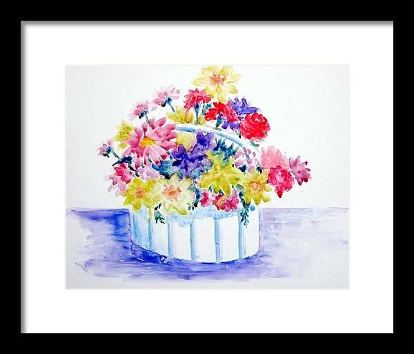 Flowers Framed Print featuring the painting Spring Bouquet by Marsha Elliott