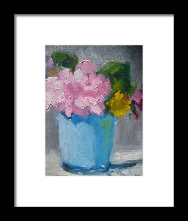 Floral Framed Print featuring the painting Spring Bouquet by Susan Jenkins