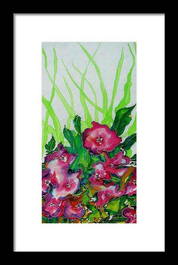 Flora Framed Print featuring the painting Spring Celebration 1 by Ferril Nawir