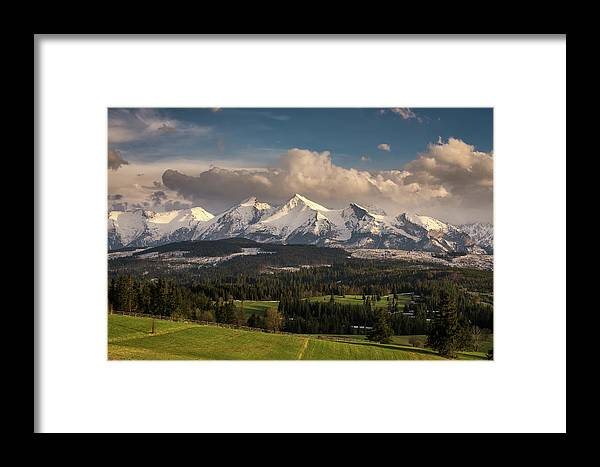 Calm Framed Print featuring the photograph Spring Comes To The High Tatra Mountains In Poland by Miroslav Liska