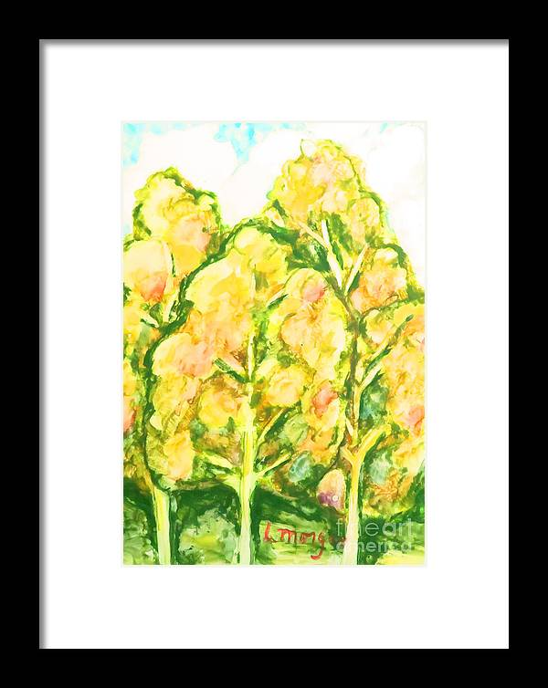 Trees Framed Print featuring the painting Spring Fantasy Foliage by Laurie Morgan
