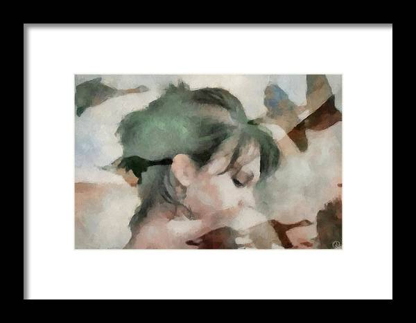 Girl Framed Print featuring the digital art Spring Feelings Come With The Birds by Gun Legler