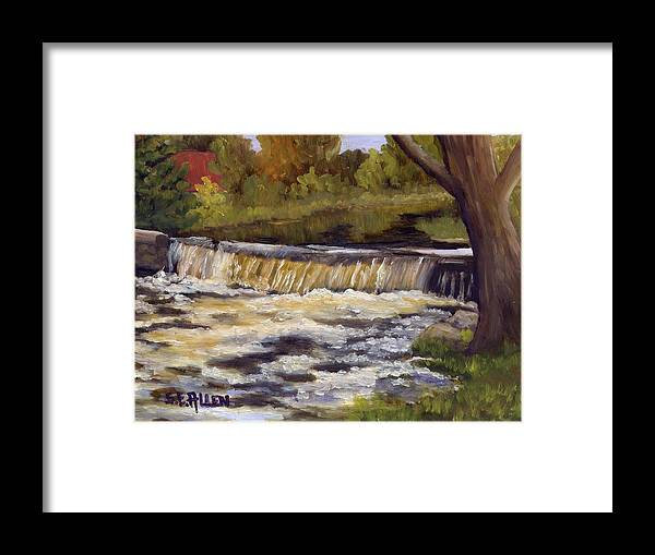 Water Framed Print featuring the painting Spring Flow by Sharon E Allen