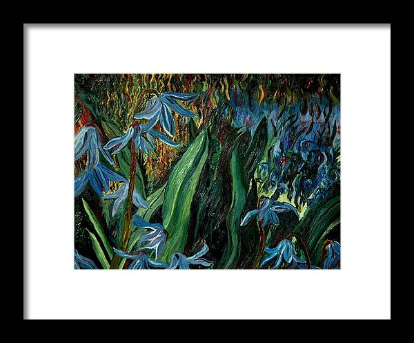 Jungle Framed Print featuring the painting Spring Flower by Gregory Allen Page